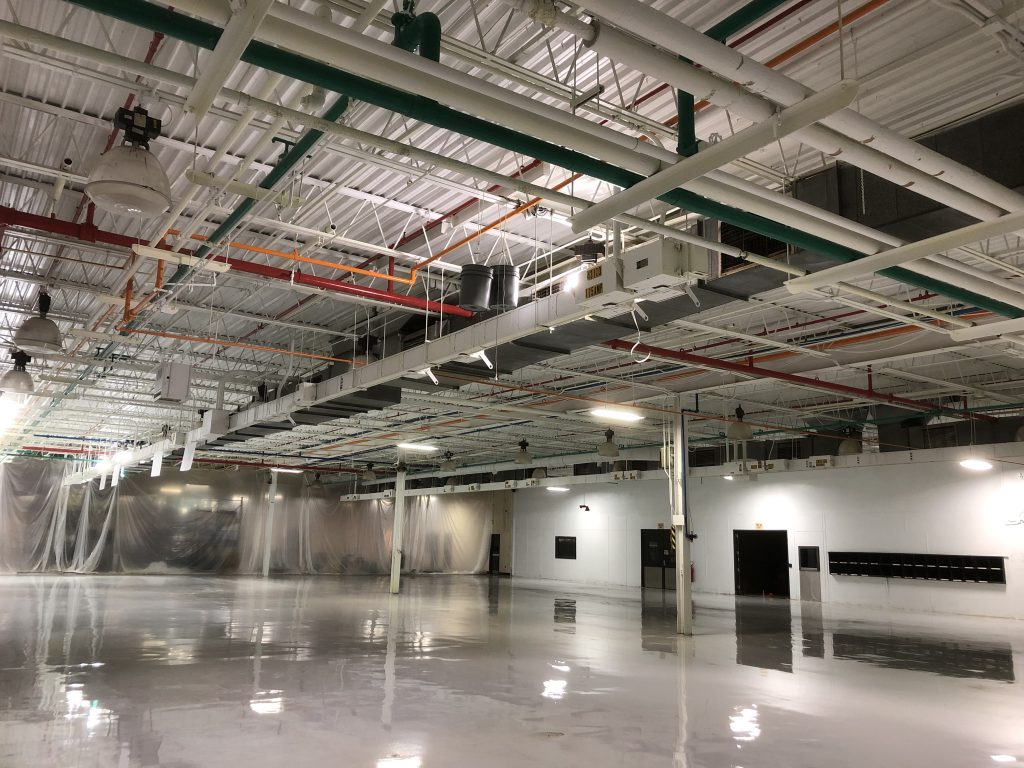 Industrial Ceiling Painting and Pipe Color Coding