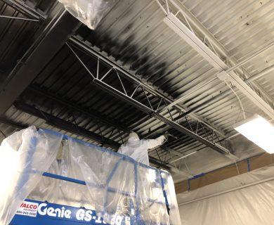 Flat Black Ceiling Painting