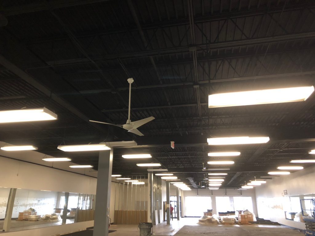Flat Black Ceiling Painting