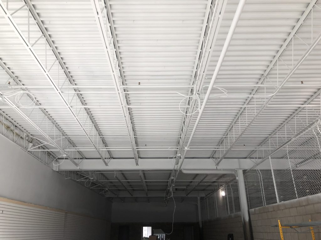 Industrial Dryfall Ceiling Painting